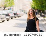 beautiful and fashion young... | Shutterstock . vector #1110749792