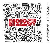 biology. subject concept...   Shutterstock .eps vector #1110756518