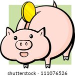 piggy bank | Shutterstock .eps vector #111076526