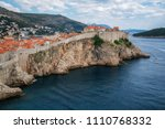 historic wall of dubrovnik old... | Shutterstock . vector #1110768332
