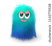Fluffy Funny Blue Monster Or...