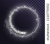 round glitter frame of silver... | Shutterstock .eps vector #1110770552
