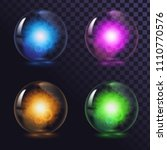 a set of glass glowing magic...   Shutterstock .eps vector #1110770576