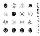 emotion icon. collection of 16... | Shutterstock .eps vector #1110773096