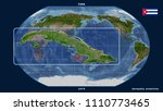 zoomed in view of cuba outline... | Shutterstock . vector #1110773465