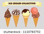 ice cream collection at... | Shutterstock .eps vector #1110783752