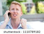 closeup portrait  worried young ... | Shutterstock . vector #1110789182