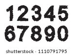 set of grunge numbers.vector... | Shutterstock .eps vector #1110791795