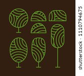 tree icon and bush plant set... | Shutterstock .eps vector #1110794675