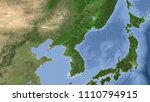 north korea and its... | Shutterstock . vector #1110794915