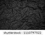 black crampled paper background ... | Shutterstock . vector #1110797522