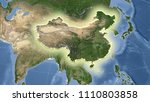 china and its neighborhood.... | Shutterstock . vector #1110803858
