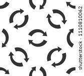 refresh icon seamless pattern...   Shutterstock .eps vector #1110810062