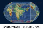 zoomed in view of india outline ... | Shutterstock . vector #1110812726