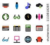 solid vector icon set   plates...
