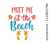 meet me at the beach.... | Shutterstock .eps vector #1110822788