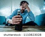 drunk alcoholic lain business... | Shutterstock . vector #1110823028