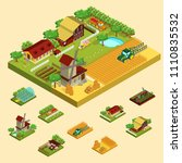 isometric agricultural concept... | Shutterstock .eps vector #1110835532