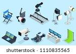 isometric cinematography... | Shutterstock .eps vector #1110835565