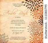 wedding card or invitation with ... | Shutterstock .eps vector #111083795