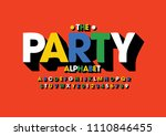 vector of colorful bold font... | Shutterstock .eps vector #1110846455