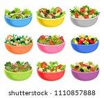 flat vector set of vegetable... | Shutterstock .eps vector #1110857888