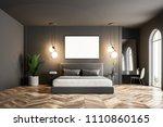 modern bedroom interior with... | Shutterstock . vector #1110860165