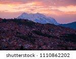 city of la paz at sunrise ... | Shutterstock . vector #1110862202