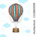 vector conceptual art of hot... | Shutterstock .eps vector #1110865058