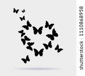 heart of butterflies original... | Shutterstock .eps vector #1110868958