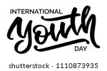 international youth day   hand... | Shutterstock .eps vector #1110873935