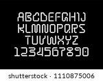 geometric techno tape font ...   Shutterstock .eps vector #1110875006
