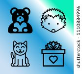 vector icon set about love with ... | Shutterstock .eps vector #1110884996