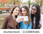 group multi ethnic young...   Shutterstock . vector #1110885686