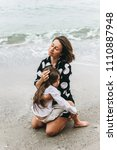 mother and daughter holding...   Shutterstock . vector #1110887948
