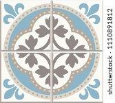 ancient floor ceramic tiles.... | Shutterstock .eps vector #1110891812