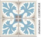 ancient floor ceramic tiles.... | Shutterstock .eps vector #1110891818