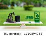 fossil fuel vs renewable  ... | Shutterstock . vector #1110894758