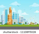 smart city and suburb with... | Shutterstock .eps vector #1110895028