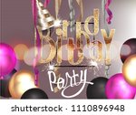 birthday party invitation card... | Shutterstock .eps vector #1110896948