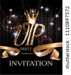 vip party invitation card with... | Shutterstock .eps vector #1110897572