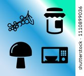 vector icon set about food with ... | Shutterstock .eps vector #1110899036