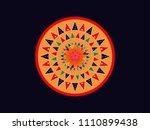 assamese traditional japi design   Shutterstock .eps vector #1110899438