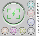 camera flash mode color icons... | Shutterstock .eps vector #1110901196
