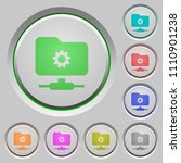 ftp settings color icons on... | Shutterstock .eps vector #1110901238