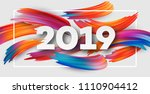 2019 new year on the background ... | Shutterstock .eps vector #1110904412