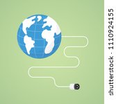 earth energy with plug in... | Shutterstock .eps vector #1110924155
