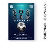 soccer tournament flyer or... | Shutterstock .eps vector #1110939872