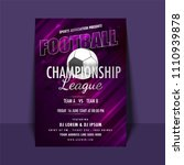 football championship league... | Shutterstock .eps vector #1110939878