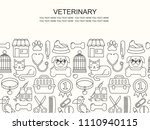 line style black and white... | Shutterstock .eps vector #1110940115